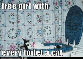 free girt with  every toilet a cat