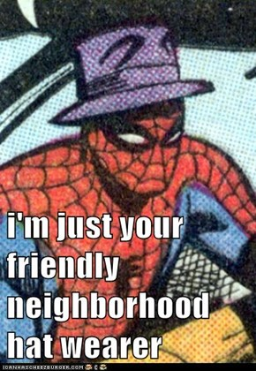 i'm just your friendly neighborhood hat wearer