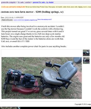 The Custom Zero-Turn Lawn Mower