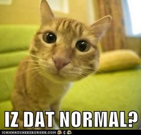 IZ DAT NORMAL?