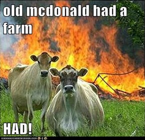 old mcdonald had a farm  HAD!
