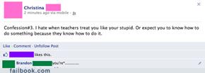 Those dumb teachers.