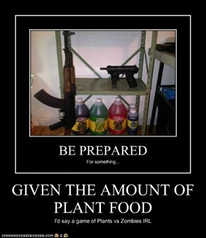 GIVEN THE AMOUNT OF PLANT FOOD