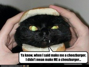 *POOF!* You're a cheezburger!