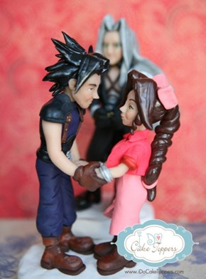 Final Fantasy Cake Topper Love