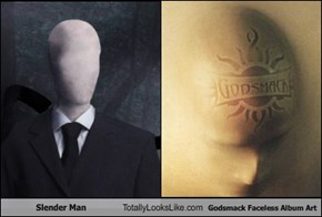 Slender Man Totally Looks Like Godsmack Faceless Album Art