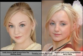 Emily Kinney (Beth Greene from The Walking Dead) Totally Looks Like Evanna Lynch (Luna Lovegood from Harry Potter