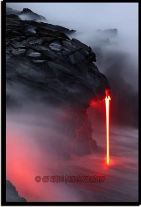 Lava, Meet Ocean!