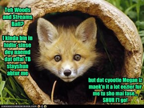 Woods And Streams Ball~ Fox Comz Owt Ob Hidin'.