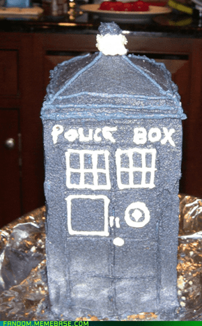 My Tardis Birthday Cake