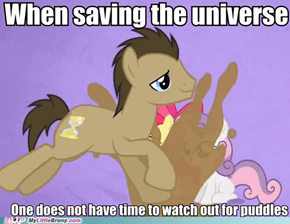 Doctor Whooves doesn't have time for this