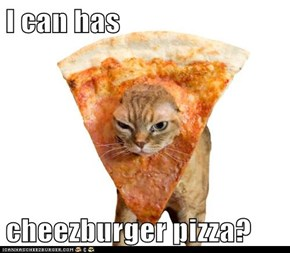 I can has   cheezburger pizza?
