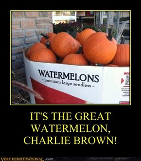 IT'S THE GREAT WATERMELON, CHARLIE BROWN!