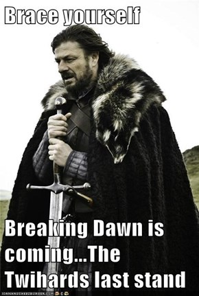 Brace yourself  Breaking Dawn is coming...The Twihards last stand