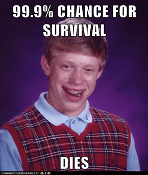 99.9% CHANCE FOR SURVIVAL  DIES