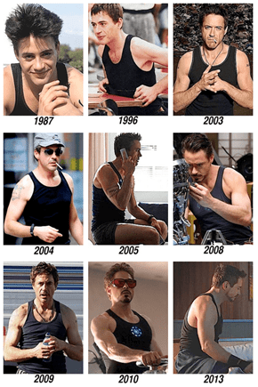 Robert Downey, Jr. + Black Tank Top = Timeless Love Affair