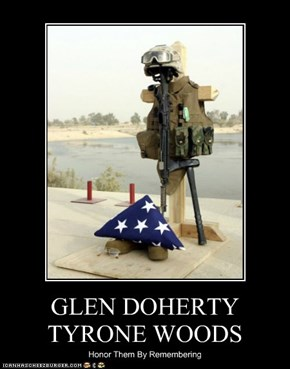 GLEN DOHERTY TYRONE WOODS