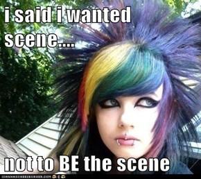 i said i wanted scene....  not to BE the scene