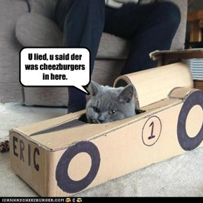 U lied, u said der was cheezburgers in here.
