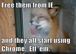 Free them from IE...  and they all start using Chrome.  Eff 'em.