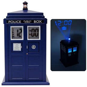 TARDIS Projection Alarm Clock of the Day