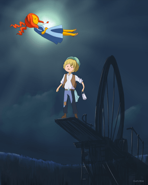 The Flame Castle in the sky