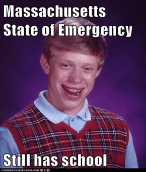 Massachusetts State of Emergency  Still has school