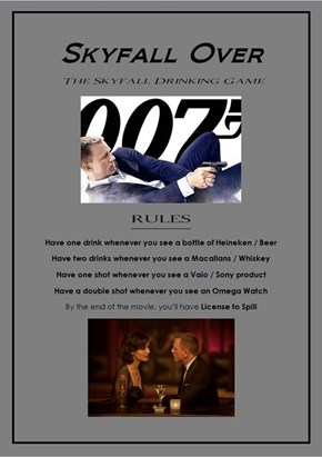 Skyfall Over: The Skyfall Drinking Game