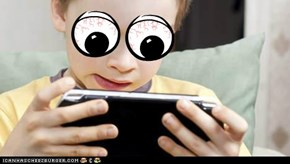 This is what happens if you give a little kid a DS.