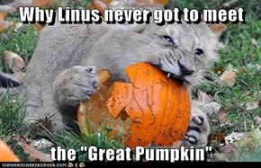 "Why Linus never got to meet  the ""Great Pumpkin"""