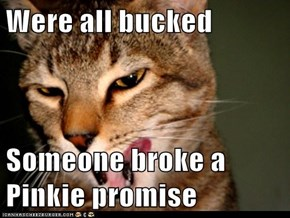 Were all bucked  Someone broke a Pinkie promise
