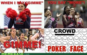 High School Cheerleading Poker Face