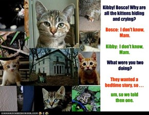 Kibby! Bosco! Why are all the kittens hiding and crying?