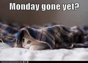 Monday gone yet?