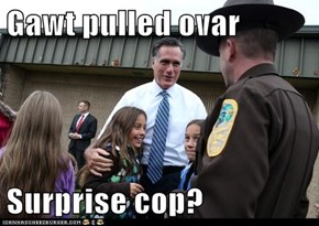 Gawt pulled ovar  Surprise cop?