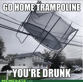 Hurricane Sandy Trampoline
