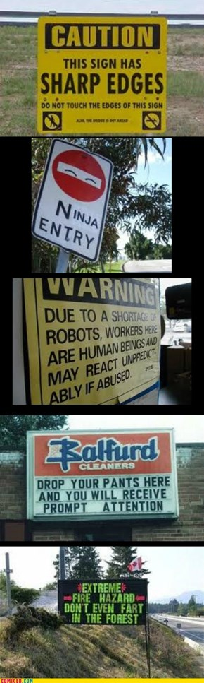 WTF signs