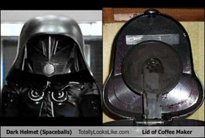 Dark Helmet (Spaceballs) Totally Looks Like Lid of Coffee Maker