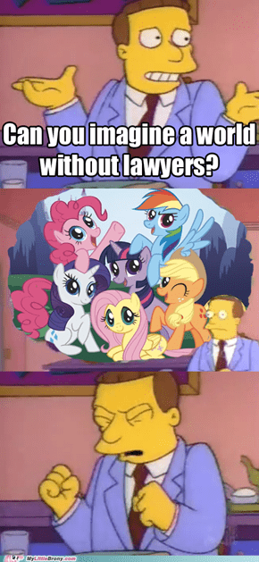 Lionel Hutz Doesn't Like Ponies