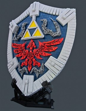 Look At This Amazing LEGO Hylian Shield of the Day