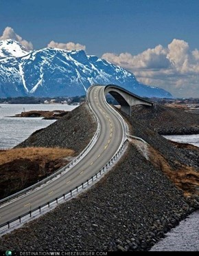 Crusing Along The Atlantic Road, Norway