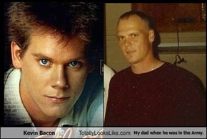Kevin Bacon Totally Looks Like My dad when he was in the Army.