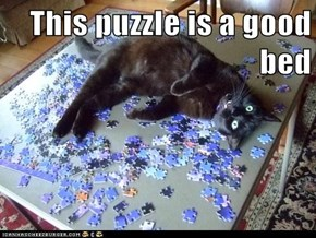 This puzzle is a good bed