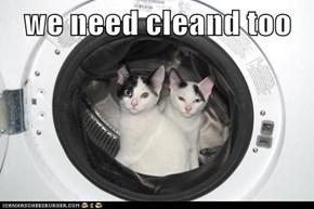 we need cleand too
