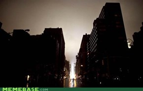 A city without lights (sandy footage)