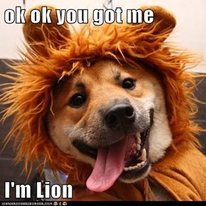 ok ok you got me  I'm Lion