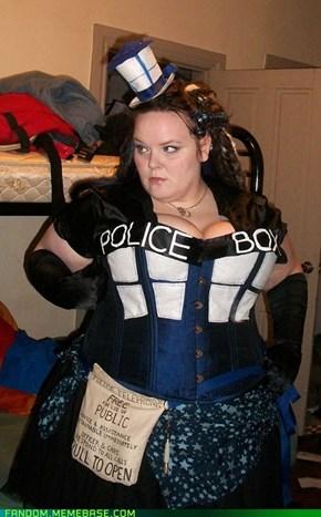 My TARDIS Halloween costume for 2012