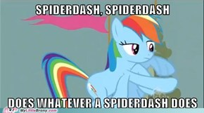 Look out, she's a spiderdash!