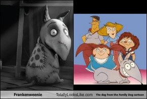 Frankenweenie Totally Looks Like The dog from the Family Dog cartoon