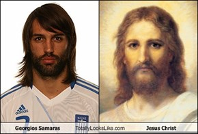Georgios Samaras Totally Looks Like Jesus Christ
